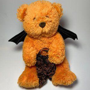 Collectible 2009 Halloween Godiva Chocolate Teddy Bear Plush Bat Wings